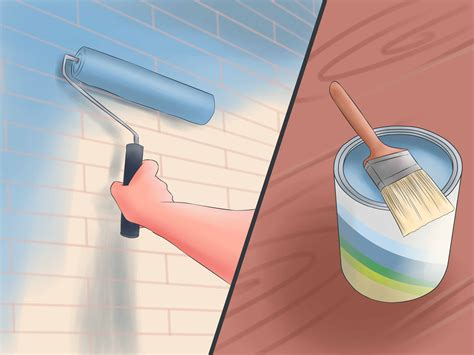 painting a wall how to paint masonry walls 5 steps with pictures wikihow