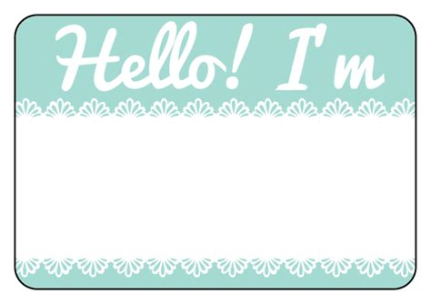 great name tag design name tag label templates hello my name is templates