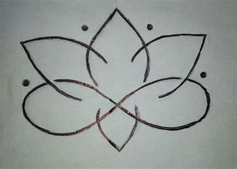 lotus flower infinity symbol tattoo idea love beauty