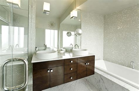 white mosaic bathroom white mosaic tile bathroom contemporary with above counter