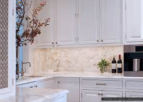 Marble Kitchen Backsplash Design Calacatta Gold Subway Tile And Countertop Ideas