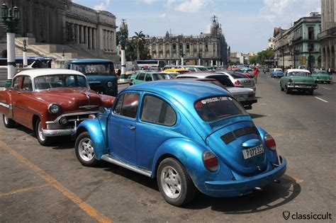 volkswagen old cars vw bay bus and beetle in havana cuba classiccult