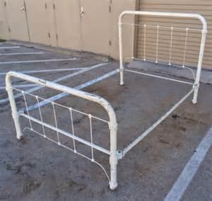 size iron bed headboard foorboard side rails