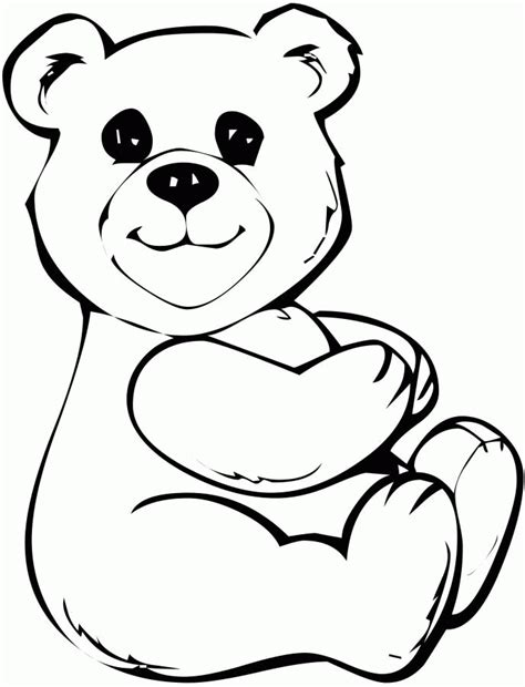sad bear coloring pages teddy bear cartoon coloring home