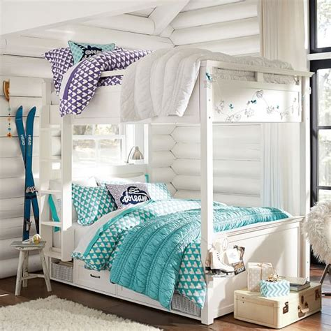 teen bunk beds hton bunk bed pbteen