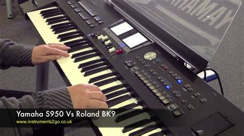 Keyboard Yamaha Roland yamaha s950 vs roland bk9 keyboard demo