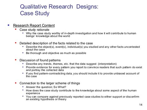 layout of a qualitative research report qualitative research designs