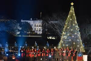 christmas lighting ceremony hotel gm speech 2012 obama family lights national tree in festive ceremony in washington