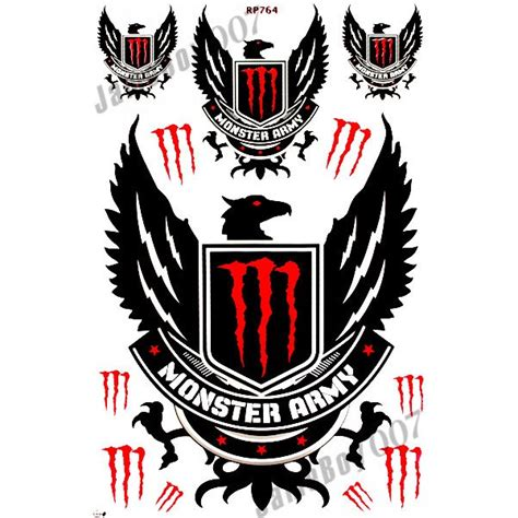 Monster Energy Sticker Rot by Mrs0172 Red M0nster Energy Decals Stickers Motorcycle