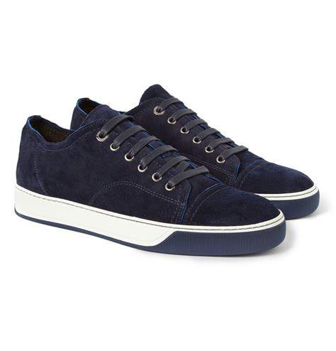 lanvin sneakers lanvin suede sneakers in blue for lyst