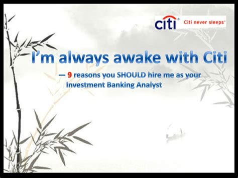 Investment Banking Analyst To Mba by Citigroup Gawker
