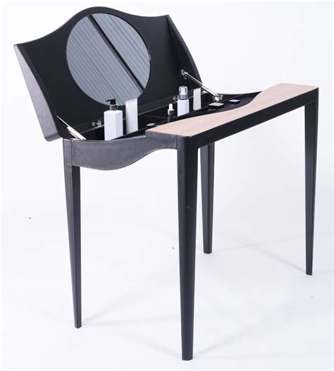 Cosmetic Table by Cosmetic Table Combine Between Leather And Laminate Wood