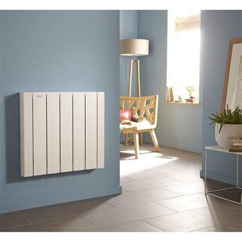 radiateur electrique cuisine radiateur 233 lectrique 224 inertie fluide acova mohair lcd 1500 w leroy merlin