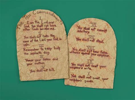 ten commandments craft ideas for crafts ten commandments bible crafts and activities