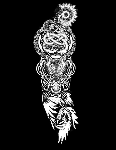 norse mythology tattoo designs ragnarok tatoo by fallingsarah deviantart on