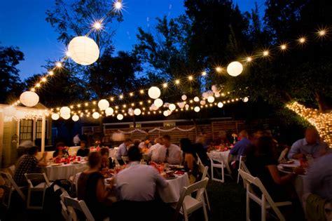 String Lights Outdoor Wedding Outdoor Wedding String Lights