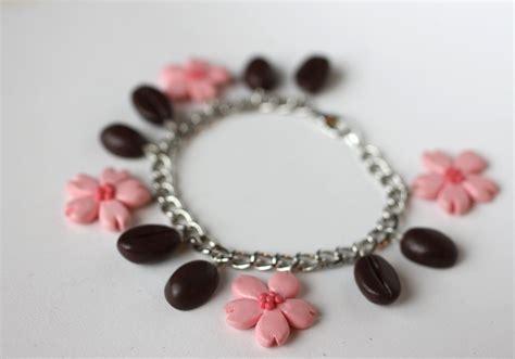 Sakura and Coffee Bean Bracelet by PaleMint on DeviantArt