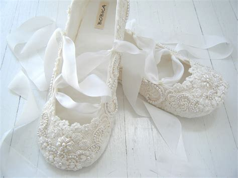 ivory slippers wedding ivory ballet flats wedding shoes bridal ballet flats by