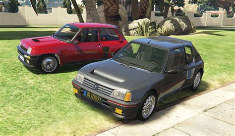 peugeot 205 turbo 16 2 cars pack add on tuning