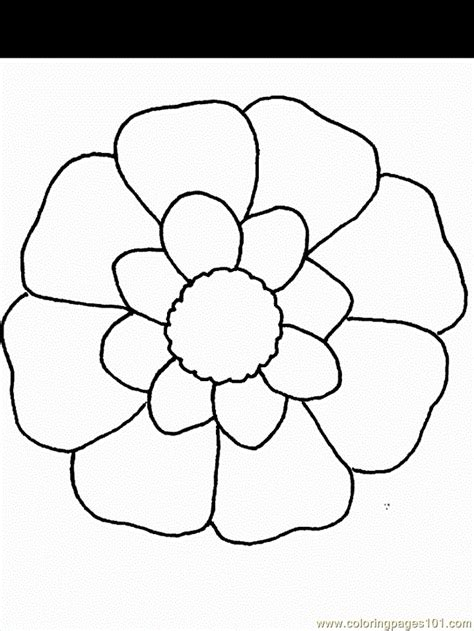 Coloring In Pictures Cartoon Flowers Printable Coloring Page For Kids And Adults by Coloring In Pictures