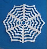 Origami Spider Web - kid craft paper spider web classroom ideas