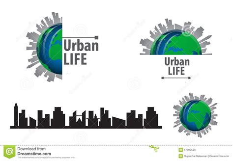 free logo design urban silhouette of a modern city scape royalty free stock image