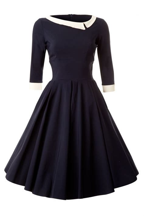 vintage swing mode ft clothing navy mad vintage swing dress