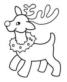 reindeer image coloring home