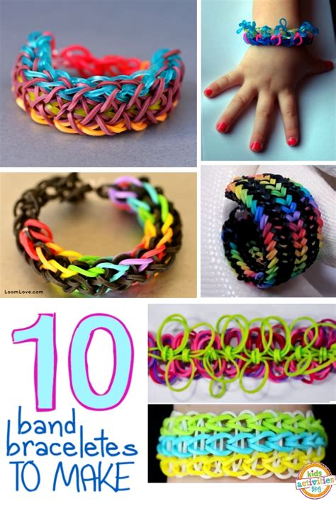 10 {MORE} Band Bracelets for Kids to Make