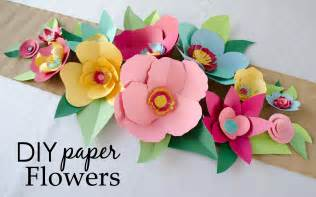Diy Flower Template by Diy Cut Paper Flowers Project Nursery