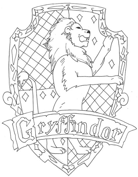 harry potter coloring pages gryffindor harry potter gryffindor coloring page printable