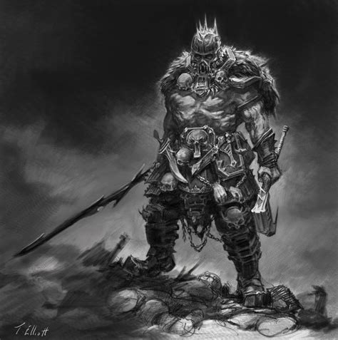 cal 2017 fantasy art of adrian smith style barbarian by art tool on