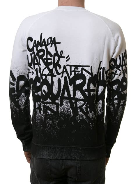 dsquared graffiti sweatshirt sweatshirts sweaters
