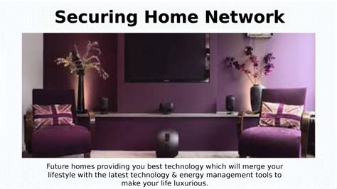 securing your home network future homes authorstream