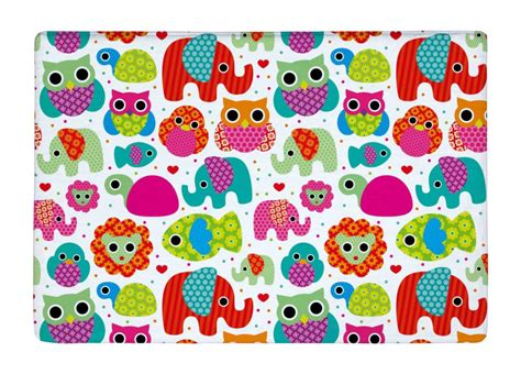 Print Mat by Floor Mat Seamless Retro Elephant And Owls Animal Print Non Slip Rugs Carpets Alfombra For
