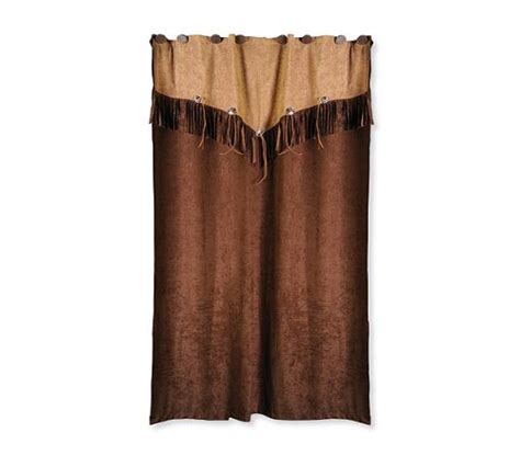 faux leather curtains big sky country western themed shower curtain bathroom
