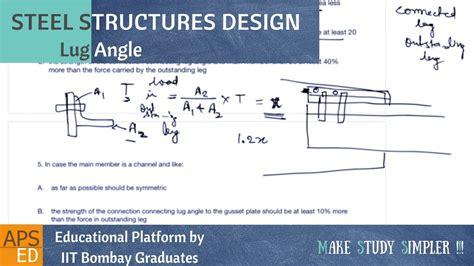form design of welded members tension member splice lug angles design of steel