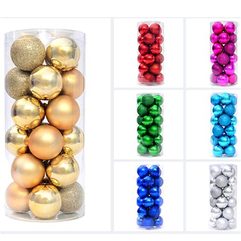 large plastic christmas balls 24 pcs lot for christmas
