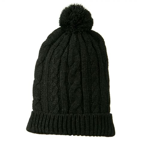 cable knit hat with pom beanie grey cable knit hat with pom pom e4hats
