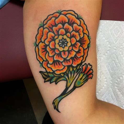 buttercup flower tattoo designs traditional marigold pictures to pin on