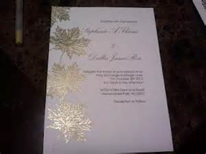 gold leaf wedding invitations gold leaf embossed invites weddingbee photo gallery