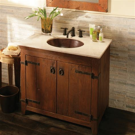 Handcrafted Dining Room Tables by Americana Rustic Bathroom Vanity Bases Chestnut Finish