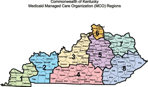 Region Of Kentucky by Medicaid Service Areas