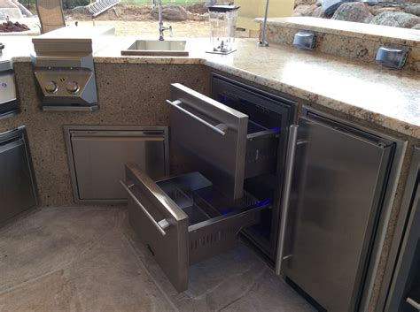 outdoor kitchen appliances reviews true outdoor refrigerator with custome outdoor rated