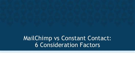 mailchimp vs constant contact video walkthrough developing styles