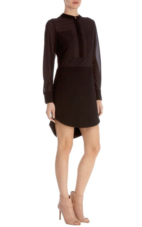 Tunic Vitoria 2 Dress millen sheer panelled tunic dress in black lyst