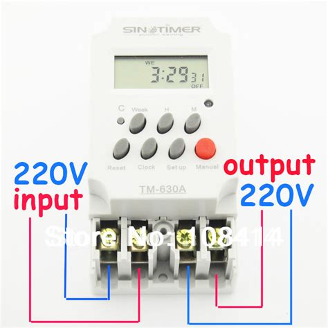 Timer Digital Original 220v Ac16 aliexpress buy 30 220v ac mini digital timer switch 7 days programmable time relay free