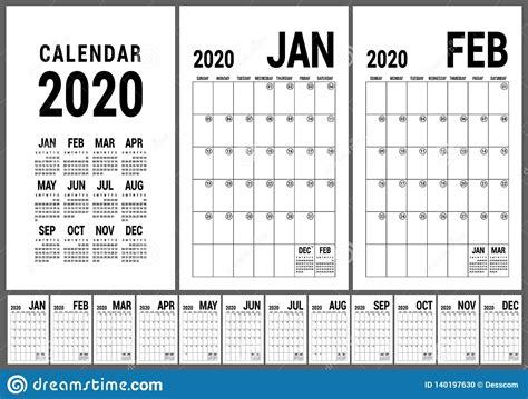 calendar  english calender template vector planner grid office business planning