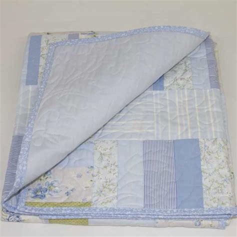 Blue Patchwork Quilts - blue patchwork quilt nursery set runny babbits
