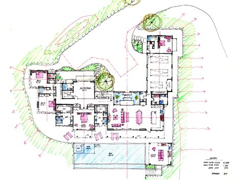 architectural site plan hand sketches ryan levis architect inc